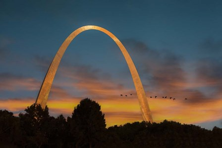 The Arch At Sunset by Galloimages Online art print
