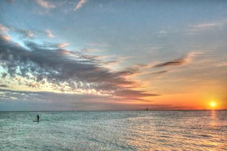 Key West Paddleboard Sunset by Robert Goldwitz art print