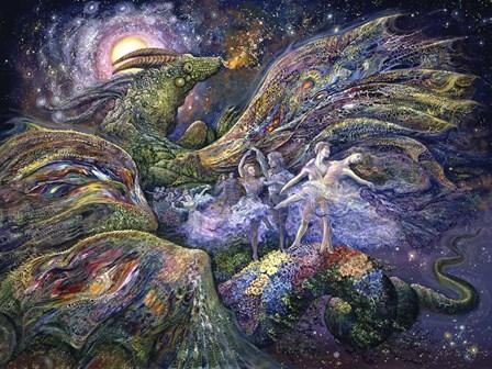 Dragon Dancers by Josephine Wall art print