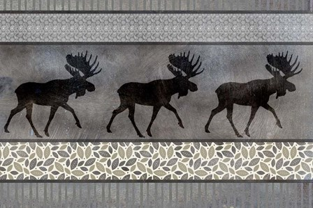 Moose Pattern by LightBoxJournal art print