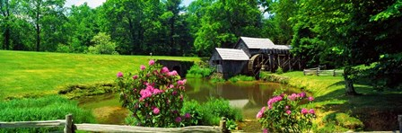 Trees around a Watermill, Mabry Mill, Blue Ridge Parkway, Floyd County, Virginia by Panoramic Images art print