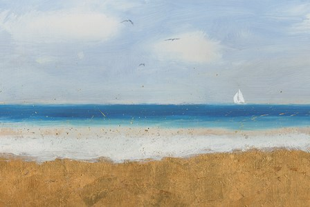 Beach Horizon by James Wiens art print