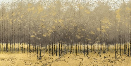 Golden Trees III Taupe by James Wiens art print