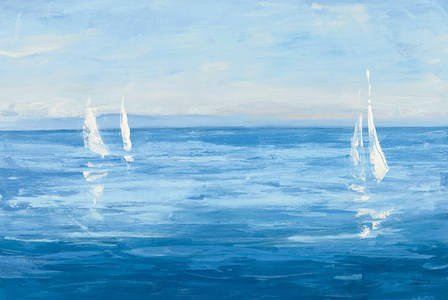 Open Sail with Turquoise by Julia Purinton art print