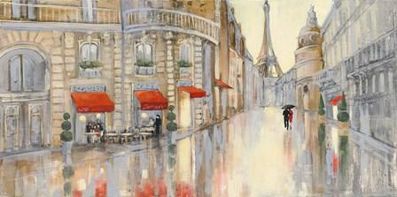 Touring Paris Couple by Julia Purinton art print