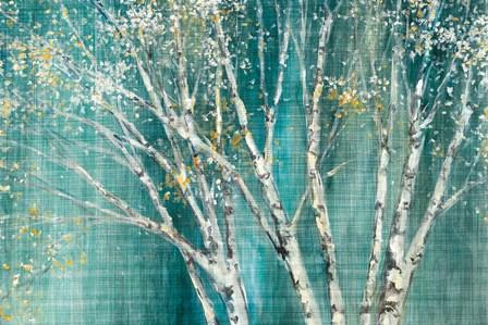 Blue Birch Horizontal by Julia Purinton art print