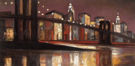 NYC Nitetime by Julia Purinton art print