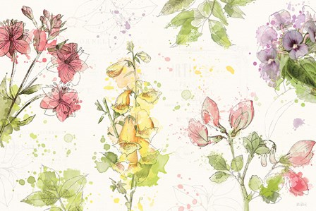 Floral Splash I by Katie Pertiet art print