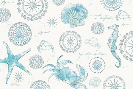 Coastal Splash V by Katie Pertiet art print