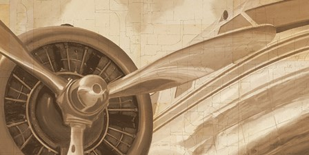 Travel by Air I Sepia No Words Post by Marco Fabiano art print