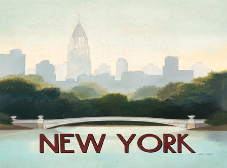 City Skyline New York Horizontal by Marco Fabiano art print