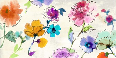 Waterflowers by Michelle Clair art print