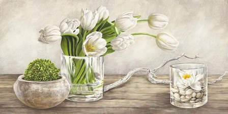 Arrangement with Tulips by Remy Dellal art print