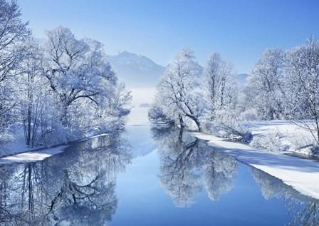 Winter landscape at Loisach, Germany by Frank Krahmer art print
