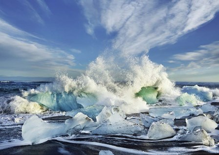 Waves breaking, Iceland by Frank Krahmer art print