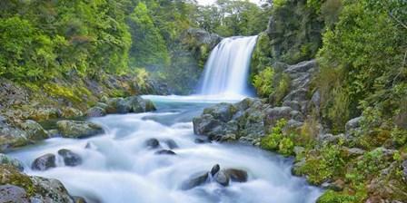 Tawhai Falls, New Zealand by Frank Krahmer art print