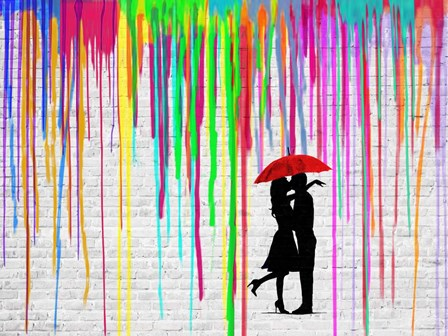 Romance in the Rain by Masterfunk Collective art print