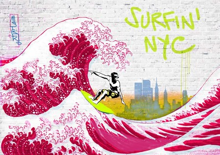 Surfin' NYC by Masterfunk Collective art print
