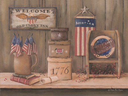 Sweet Land of Liberty by Pam Britton art print