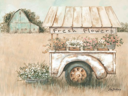 Fresh Flowers for Sale by Pam Britton art print