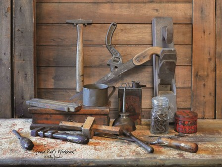 Grand Dad's Work Bench by Billy Jacobs art print