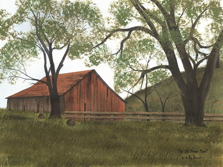 The Old Brown Barn by Billy Jacobs art print