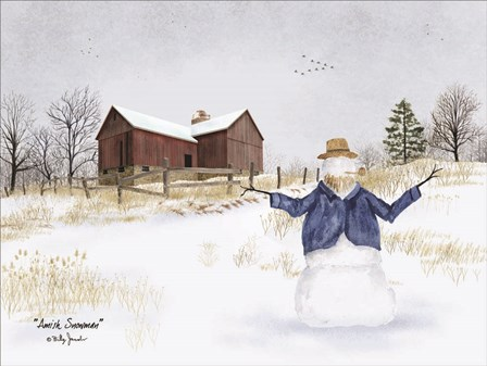 Amish Snowman by Billy Jacobs art print
