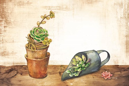 Vintage Planting Scoop by Marla Rae art print