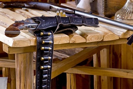 Six Shooter With Gun Belt Payson Arizona by Tom Brossart art print